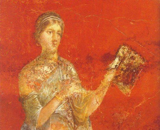 Clio, affresco da Pompei