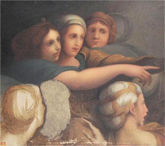 Jean Auguste Dominique Ingres, Groupe de femmes, 1867. Musée Ingres, Montauban, France