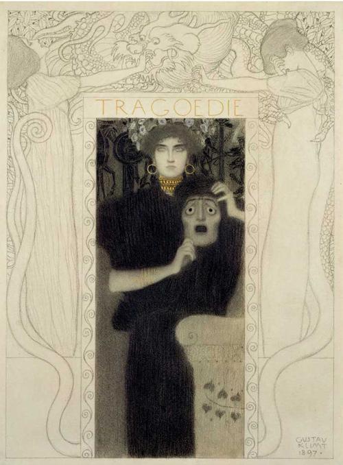 Gustav Klimt, Tragedy, 1897, Historical Museum of the City of Vienna, Vienna, Austria.