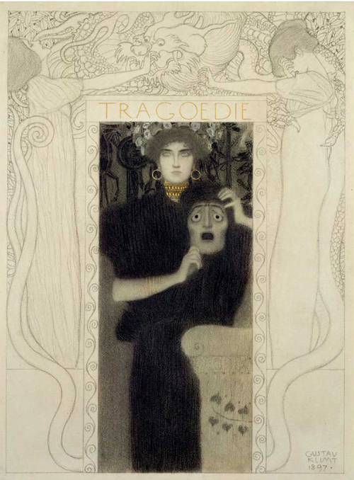Gustav Klimt, Tragedy, 1897, Historical Museum of the City of Vienna, Vienna, Austria.